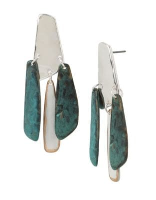 Fade Away Crystal Hammered Chandelier Earrings 500087912059