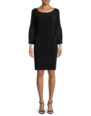 Pleated Bell-Sleeve Dress by Ivanka Trump