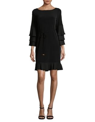 Cascading Ruffled Sheath Dress by Ivanka Trump
