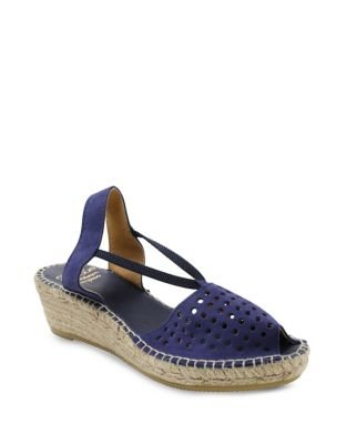 Corrine Suede Espadrille by Andre Assous