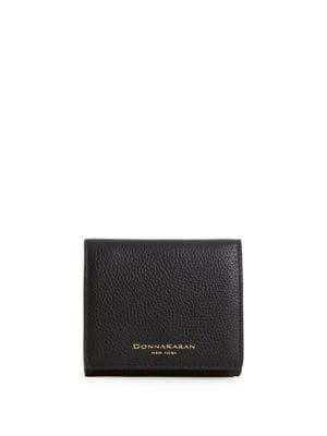 Pebbled Leather Tri-Fold Wallet 500087919309