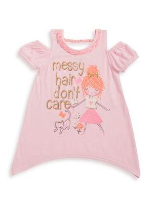 Little Girl's Messy Hair...