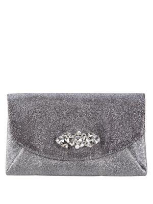 Glitter Crystal Envelope Clutch 500087929435