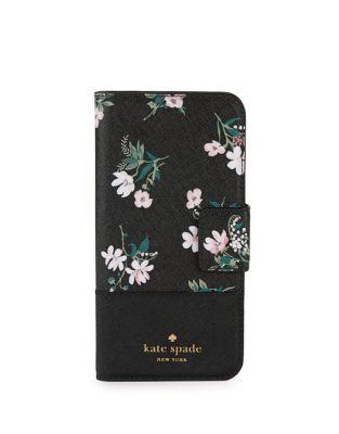 Floral Wrap Leather Folio...