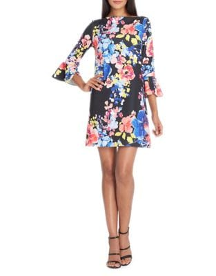 Floral Print Shift Dress by Tahari Arthur S. Levine