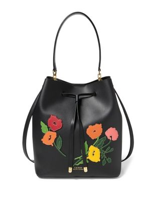 Debby Drawstring Floral Applique Bag 500087932593