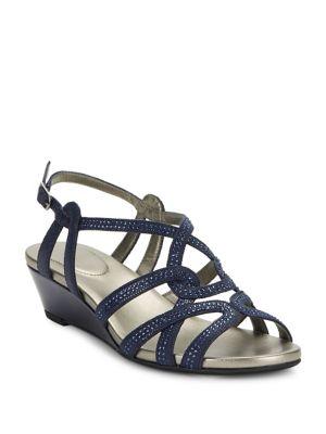 Galtelli Beaded Wedge Sandal 500087935357