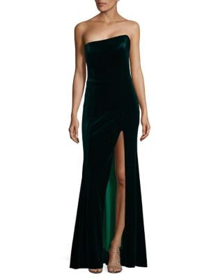 Front-Slit Velvet Dress by Betsy & Adam