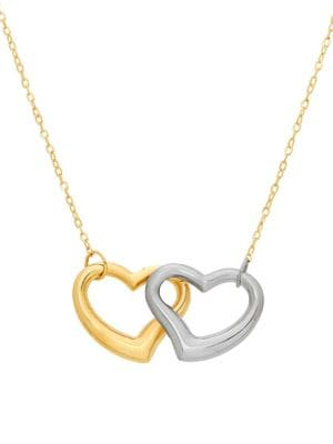 14K Two-Tone Gold Flat Chain Necklace 500087938448
