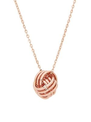 14K Rose Gold Love Knot Cable Chain Necklace 500087938469