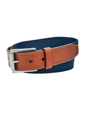 Two-Tone Textured Belt...