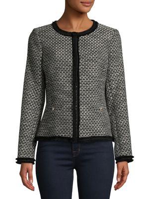 Tweed Fringe Jacket @...