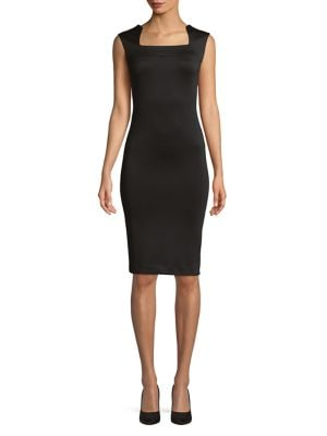 Squareneck Sheath Dress 500087951762