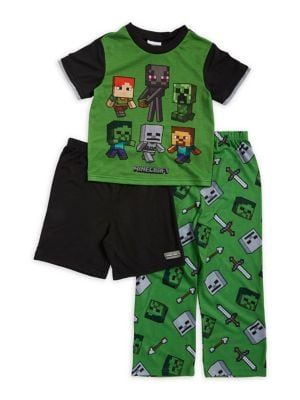 Boys ThreePiece Graphic Pajama Set