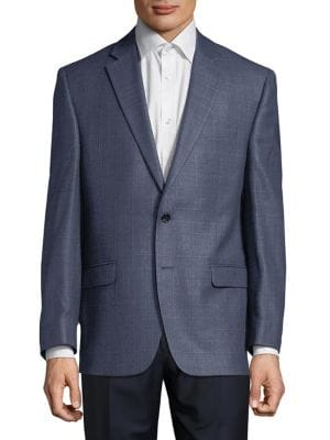Windowpane Suit Jacket...