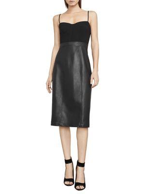 Nalia Faux-Leather Bustier Dress 500087957582