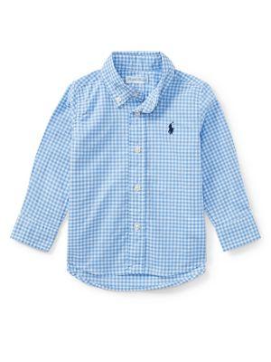 Baby Boy's Gingham Cotton...