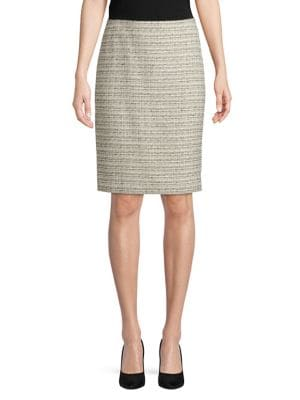 Tweed Pencil Skirt @...