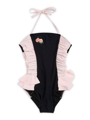 Girl's One-Piece Colorblock...