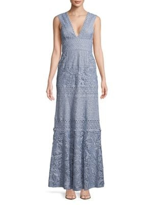 Raymee Patchwork Lace Gown 500087972723