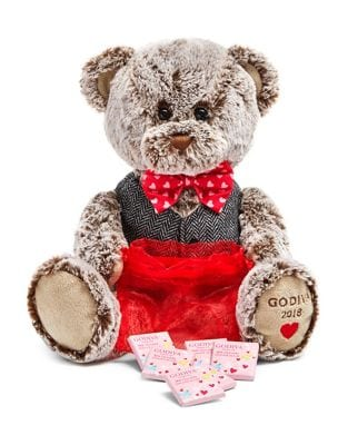 Valentines Day 2018 Limited Edition Plush Teddy Bear with Chocolate carres