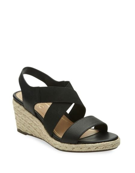 Vero Leather Wedge Sandals by Vionic
