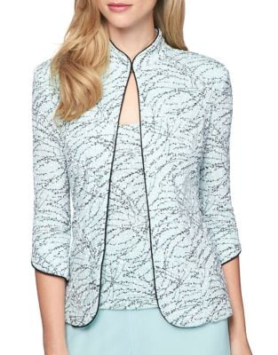 Plus Two-Piece Printed Mandarin Collar Jacket and Camisole Twinset 500087987838