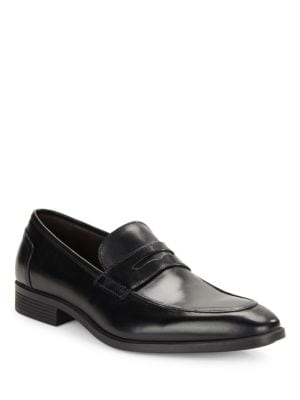 Cortez Leather Penny Loafer by Black Brown