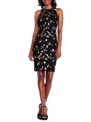 Floral Embroidery Sheath Dress 500087994144