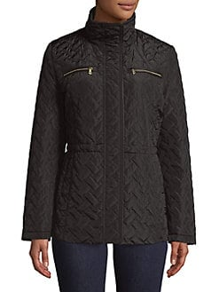 Black quilted jacket womens next