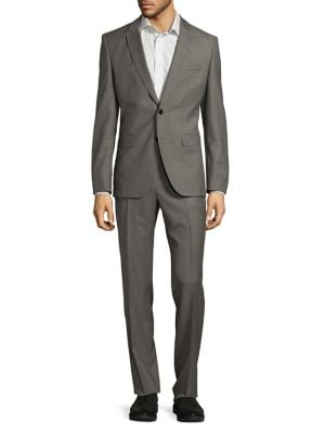 Two-Piece Wool Suit @...