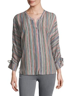 PLUS CABANA TIE-SLEEVE TOP