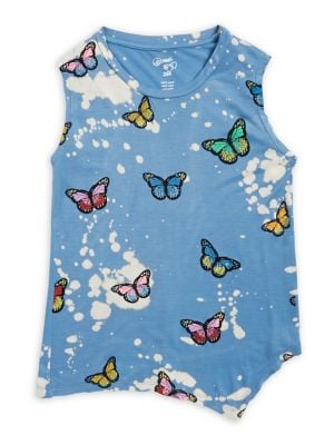 Little Girls and Girls Printed Tank Tops