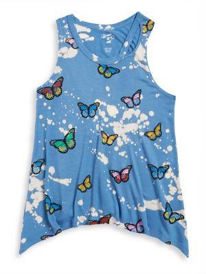 Girls Butterfly Spot Swing Tank