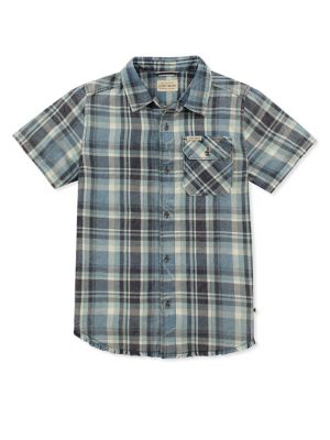Boy's Printed Cotton Button-Down Shirt 500088000248
