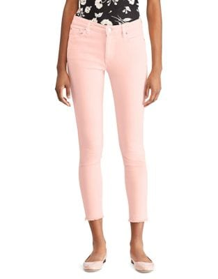 Frayed High-Rise Skinny Jeans 500088003648
