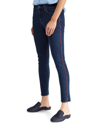 Piped High-Rise Skinny Jeans 500088003948