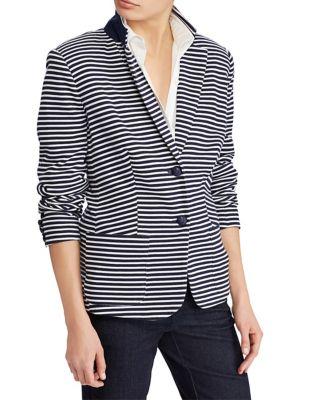 Petite Striped Long-Sleeve...