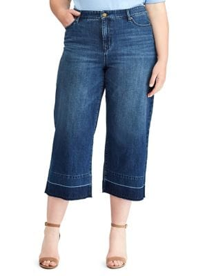 Plus Frayed Mid-Rise Jeans 500088008431