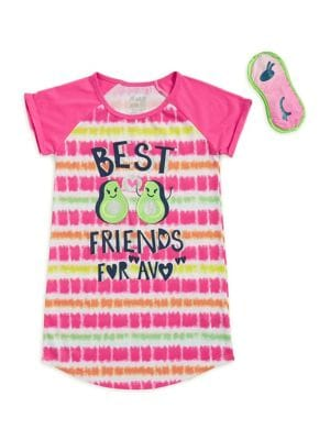 Girls TwoPiece Best Friend Sleepshirt and Eye Cover Set