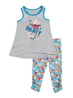 Girls TwoPiece Party Graphic Pajama Set