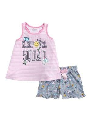 Girl's Two-Piece Sleepover Squad Pajama Set 500088009510