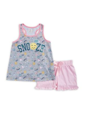 Girl's Printed Two-Piece...
