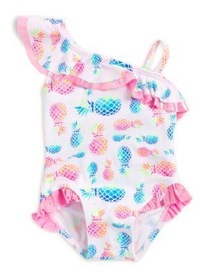 Baby Girl's Ruffle Pineapple-Print...