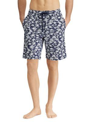 Shark-Print Jersey Pajama...