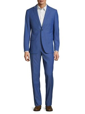 Wool Two-Piece Suit @...