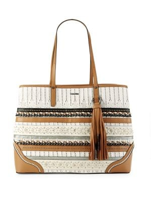 Maggie Mixed-Media Tote 500088036390