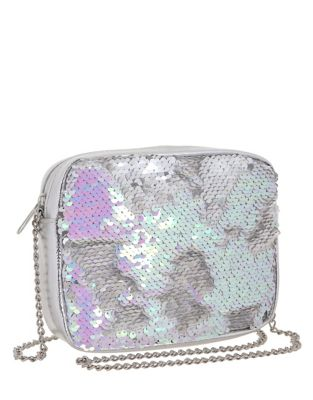 Girls Sequined Chain Crossbody Bag