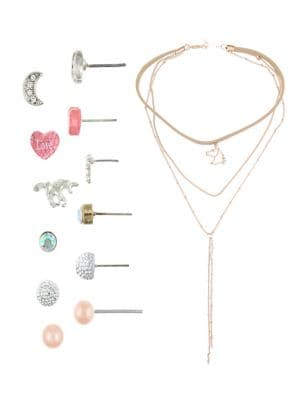 Girls Necklace and Earrings Set