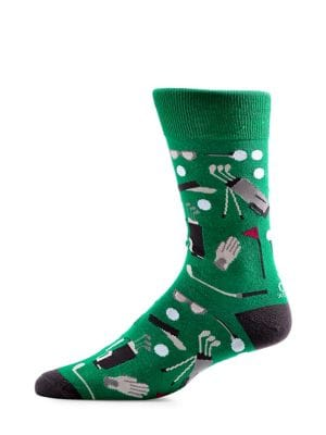 Golf-Print Socks @...